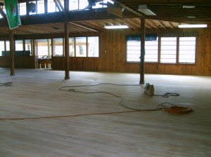 Step 1:  Sanding the floors