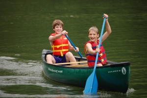 Canoeing in Lake Ridgecrest