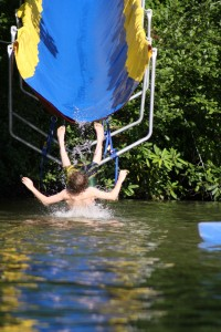 The Slide on the Lake at Camp
